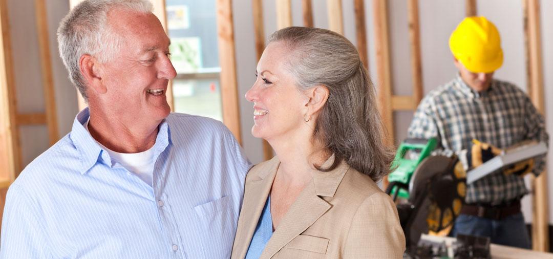 Facade happy couple builder